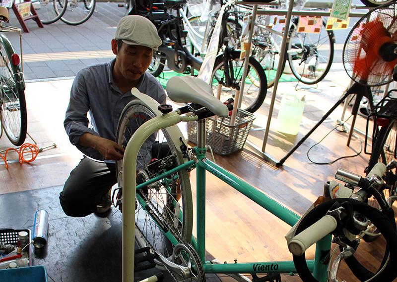 自転車屋スタッフから独立開業